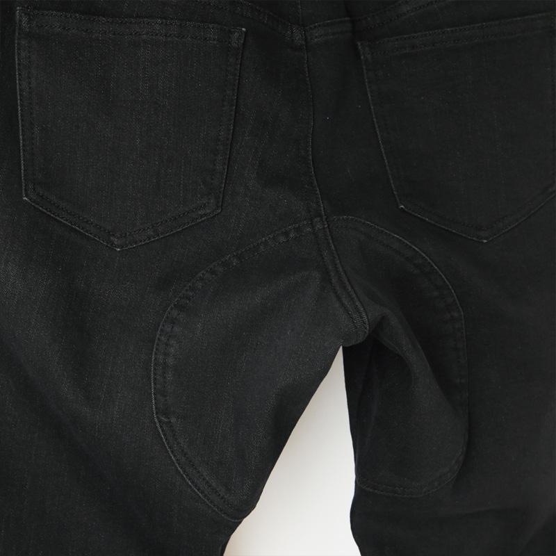 カペルミュール スリムパンツ 裏起毛サーモデニム ブラック