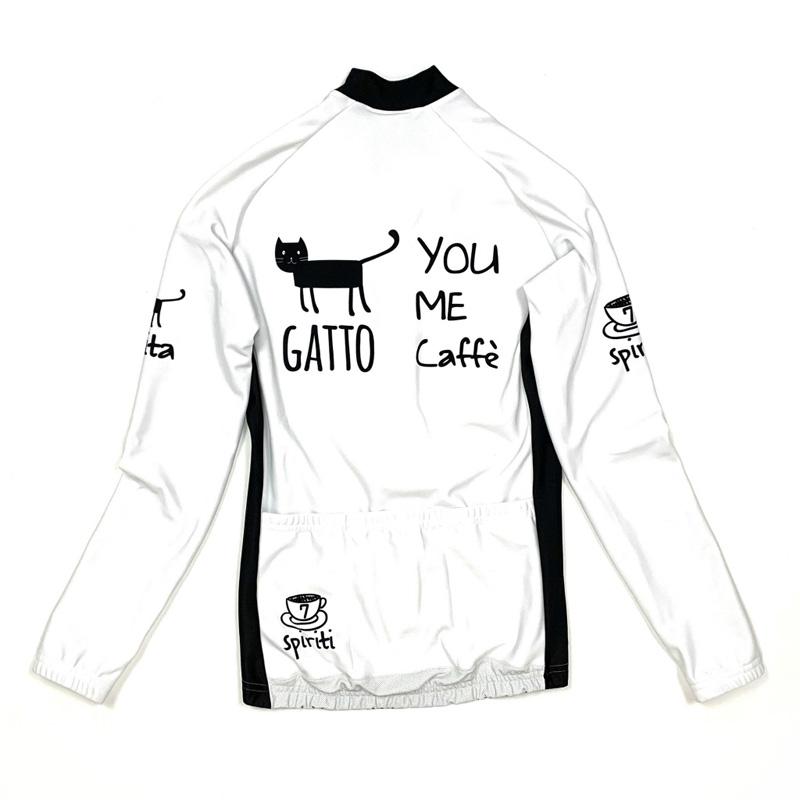 セブンイタリア You Me Cat Lady LS Jersey ホワイト レディース