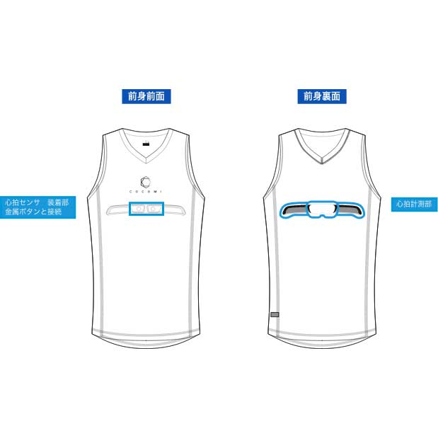 【特急】COCOMI 心拍計測用サイクリングアンダーシャツ 09.ブラック 東洋紡