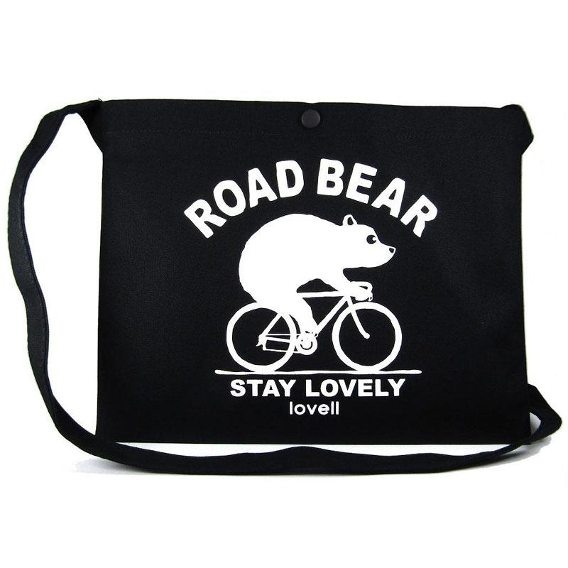 ラベル サコッシュ ROAD BEAR ブラック