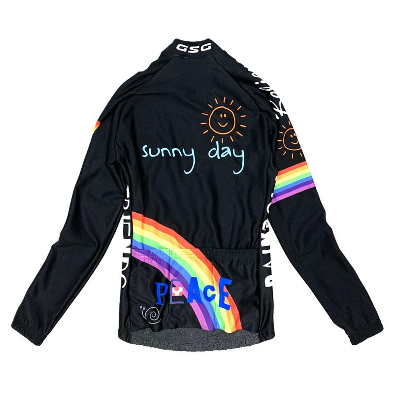 セブンイタリア Peace Sunny Day Lady LS Jersey ブラック レディース