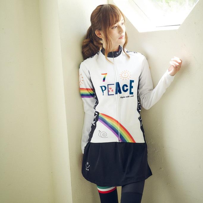 セブンイタリア Peace Sunny Day Lady LS Jersey ホワイト レディース