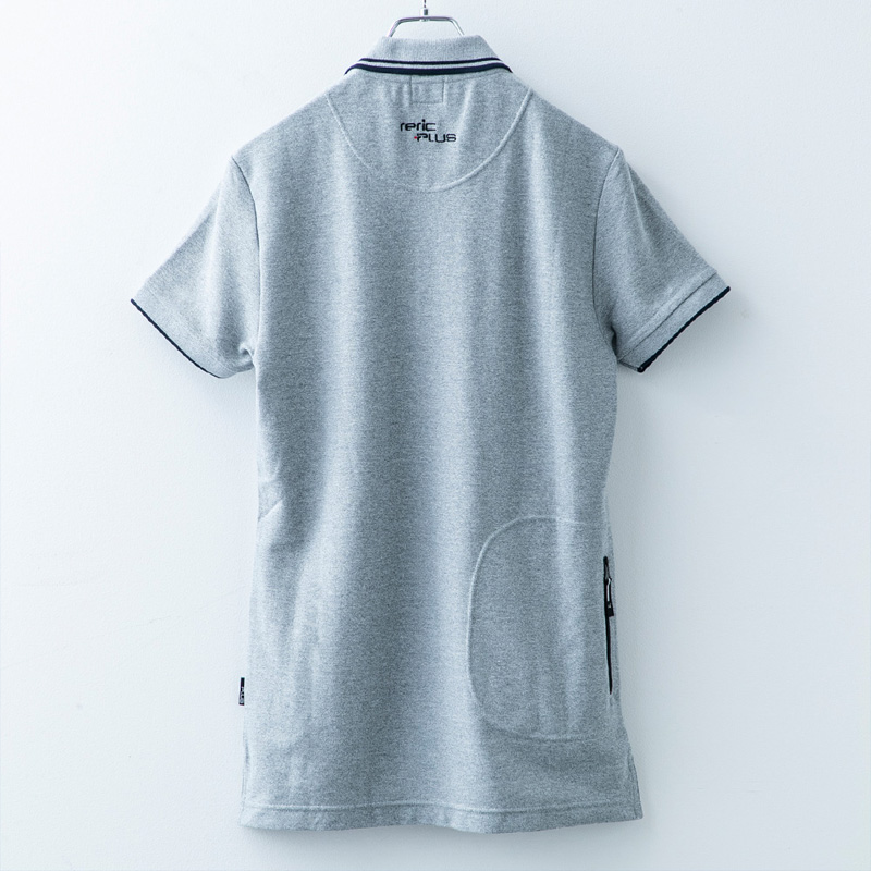 レリック プラス  ポロシャツ ライトグレー