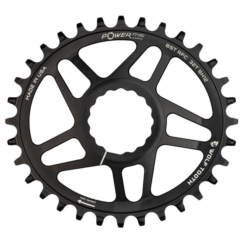 ウルフトゥース Race Face Cinch クランク Boost用 PowerTrac Elliptical(PTE) ワイド/ナロー 楕円チェーンリング Drop-Stop A