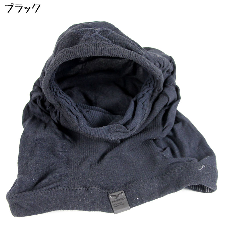【M便】ナルー X3F グレー スポーツ用フルフェイスバラクラバ(目出し帽) UVカット
