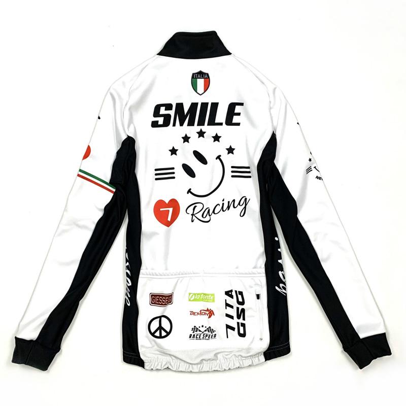 セブンイタリア Racing Smile Lady Jacket ホワイト レディース