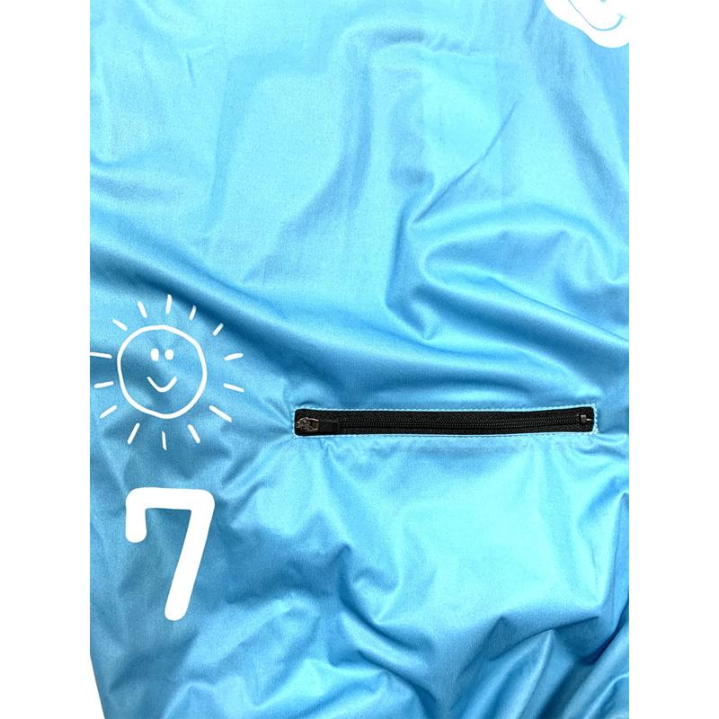 セブンイタリア Come Rain Wind Jacket ブルー