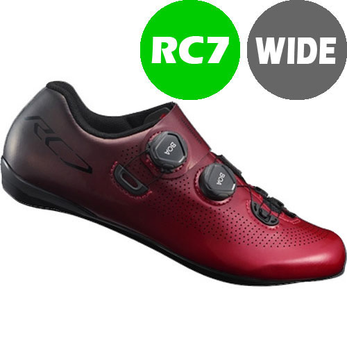 【SALE】シマノ RC7(SH-RC701) レッド ワイドタイプ SPD-SL シューズ BOA