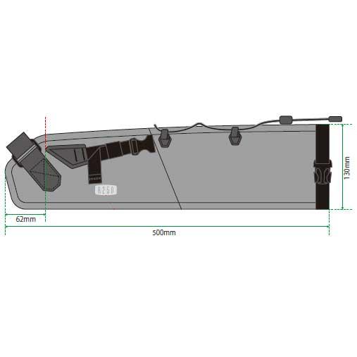 【特急】R250 防水サドルバッグ スモール グレー