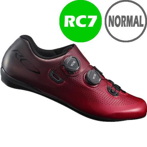【SALE】シマノ RC7(SH-RC701) レッド ノーマルタイプ SPD-SL シューズ BOA