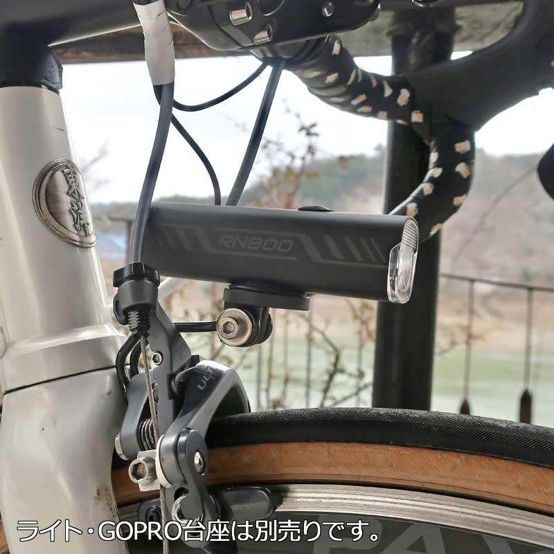 【特急】【M便】R250 ロードバイク用ライトブラケット GoPro台座用 シルバー