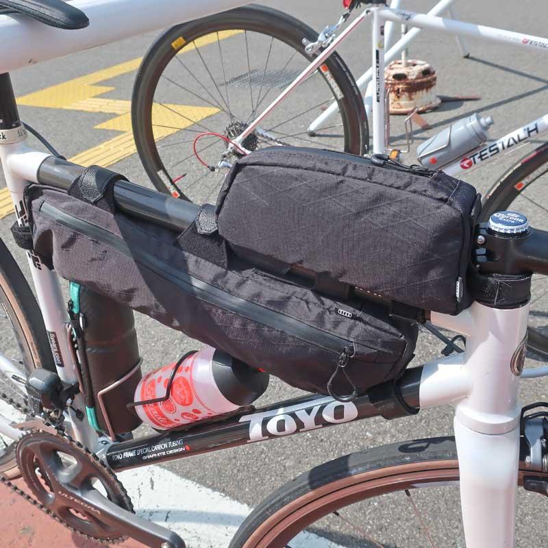 【特急】R250 トップチューブバッグ アーガイル リップストップ ブラック