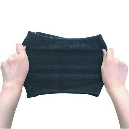 【M便】のび〜るタオル ブラック ストレッチ素材タオル