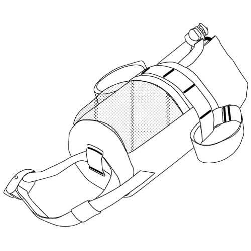エースパック バイクボトルバッグ グレー ACEPAC