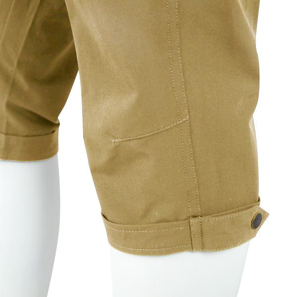 カペルミュール 裾ベルト付き クロップドパンツ アシッドベージュ