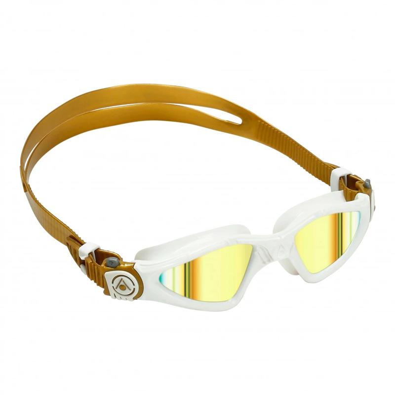 アクアスフィア KAYENNE スモールフィット ゴールドチタニウムミラーレンズ ホワイト/ゴールド ゴーグル