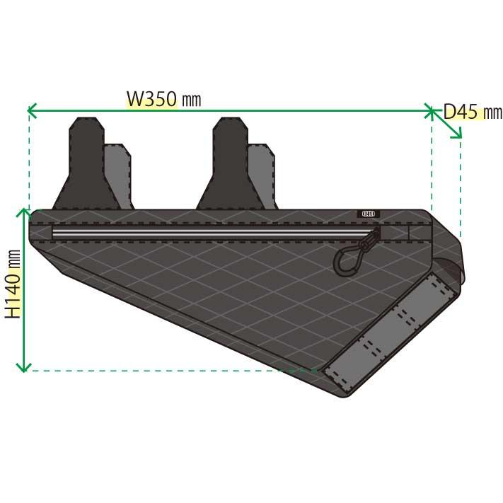 【特急】R250 フレームインナーバッグ ミディアム アーガイル リップストップ ブラック
