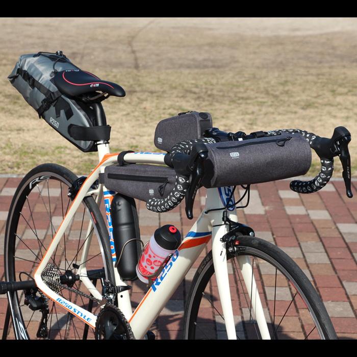 【特急】R250 防水ドラム型フロントバッグ グレー