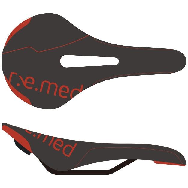 セラロイヤル R.e.med 2(リメッド2) ブラック/レッド サドル