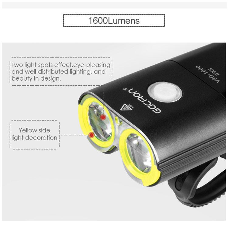 【特急】ガシロン V9D1600 ヘッドライト USB充電