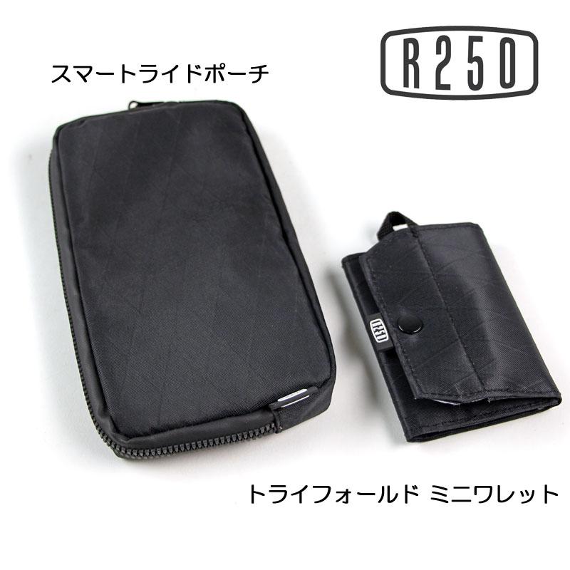 【特急】【SALE】【M便】R250 トライフォールド ミニワレット アーガイル リップストップ ブラック/パープル