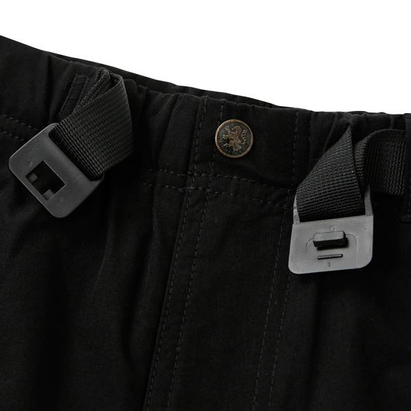 カペルミュール ストレッチハーフパンツ バックルベルト付き ブラック