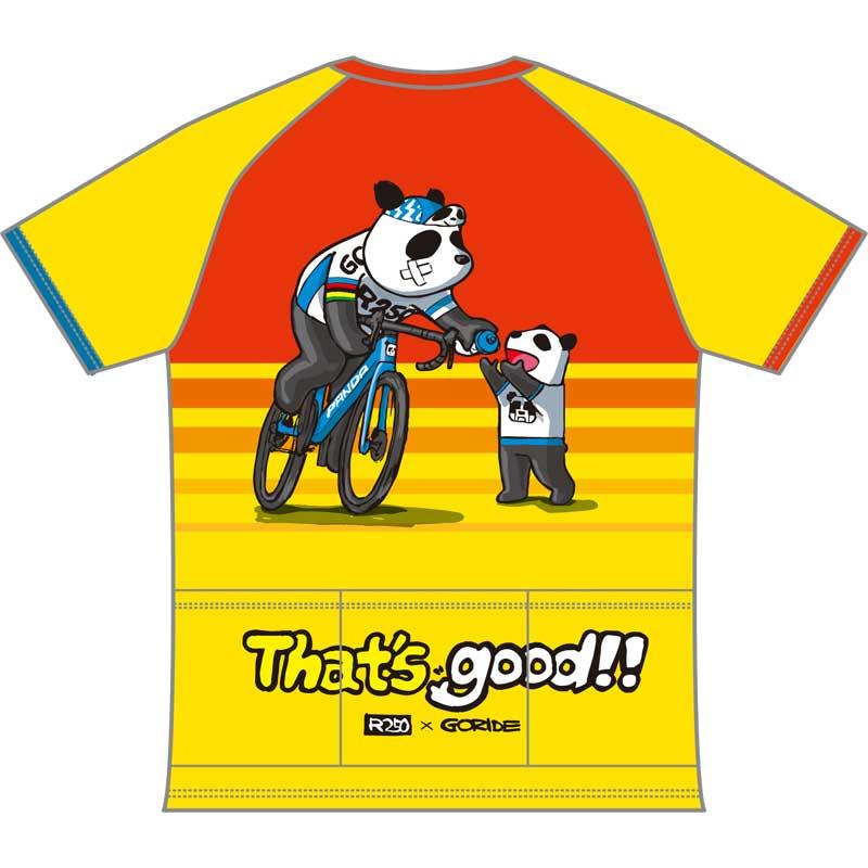【代引不可】R250 GORIDE 3バックポケット付きTシャツ ボトル投げパンダ 黄 20210708