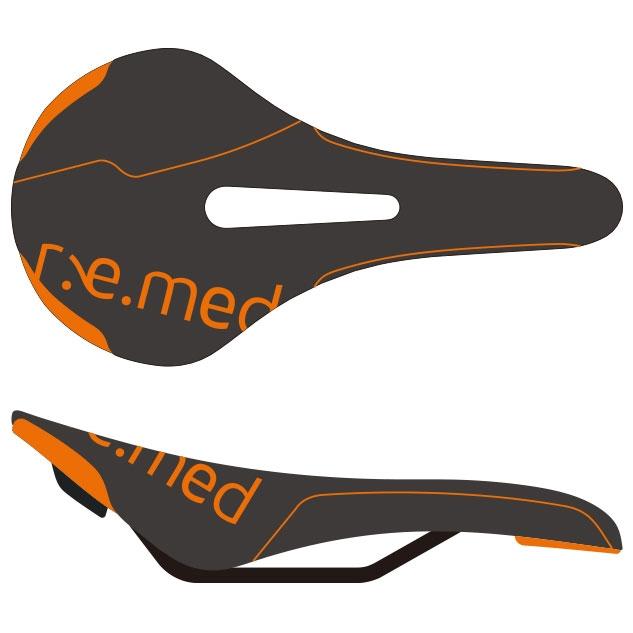 セラロイヤル R.e.med 2(リメッド2) ブラック/オレンジ サドル