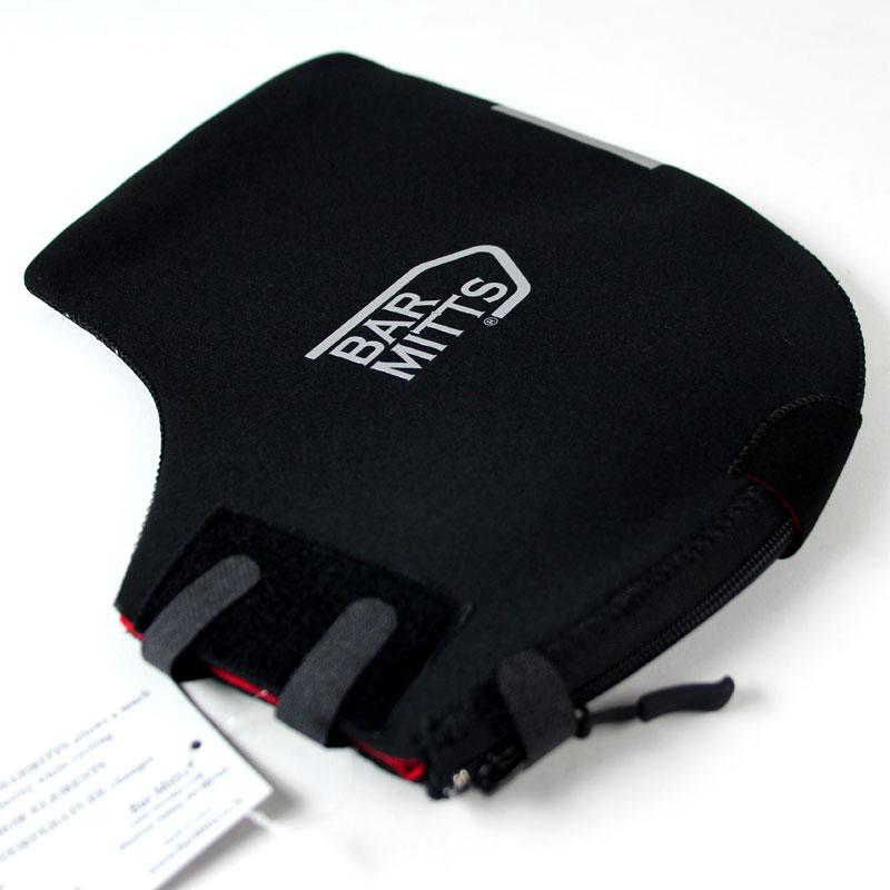 バーミッツ マウンテンミッツ(M300BLK) S/M フラットハンドル用防寒カバー  FLAT MITTS