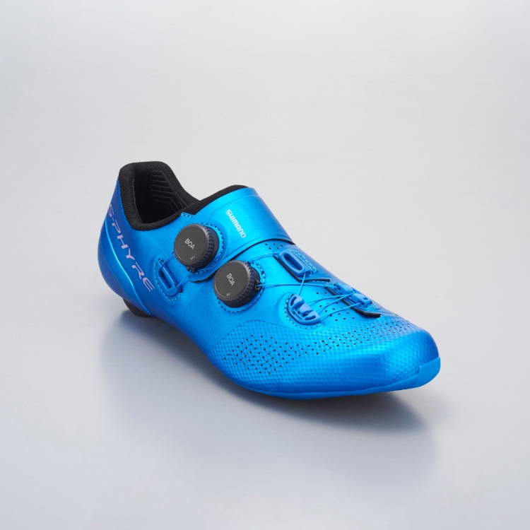 シマノ RC9(SH-RC902) ブルー ワイドタイプ SPD-SL シューズ