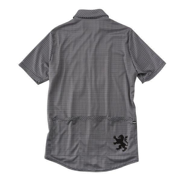 カペルミュール 半袖シャツジャージ ギンガムチェック ブラック
