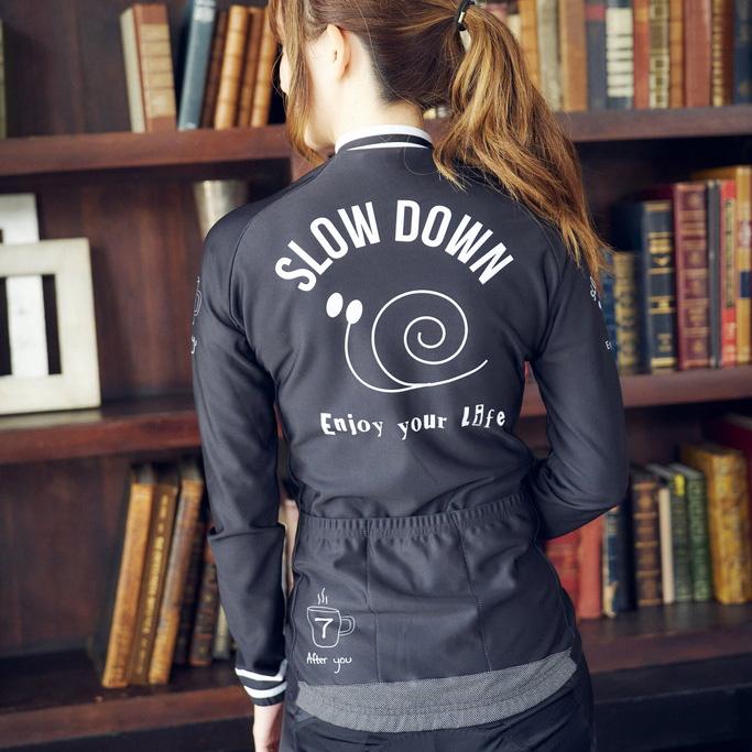 セブンイタリア Slow Down Lady LS Jersey ブラック レディース
