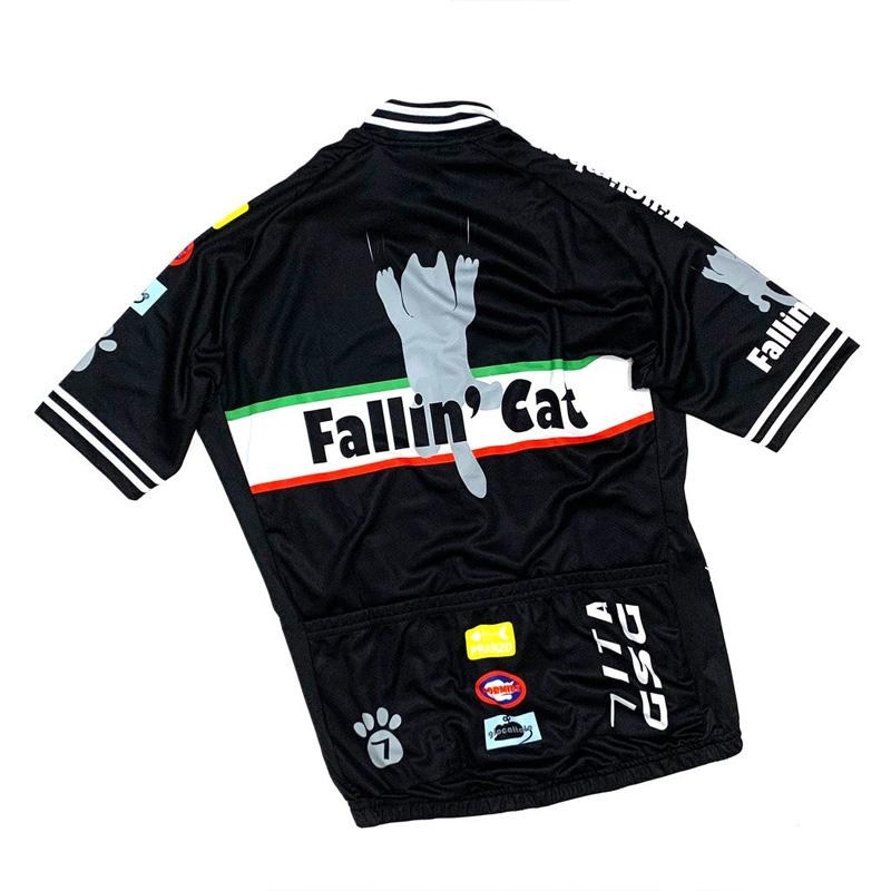 セブンイタリア Fallin' Cat Jersey ブラック