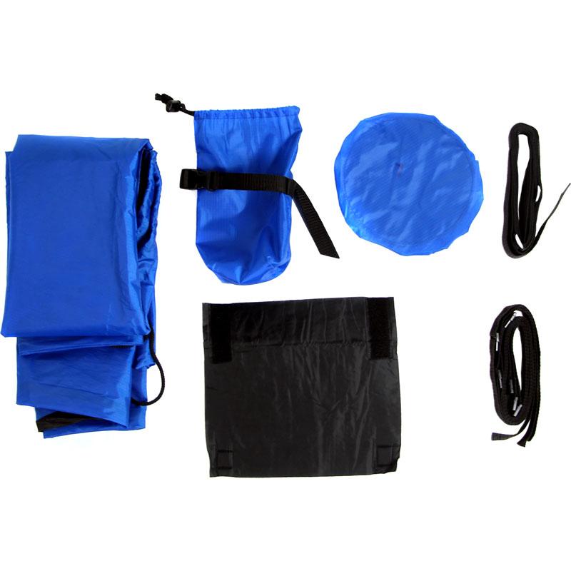 【特急】R250 ディスクブレーキ用 縦型軽量輪行袋 ブルー フレーム/スプロケットカバー・輪行マニュアル ダミーローター・12mmスルーアクスル用エンド金具付属