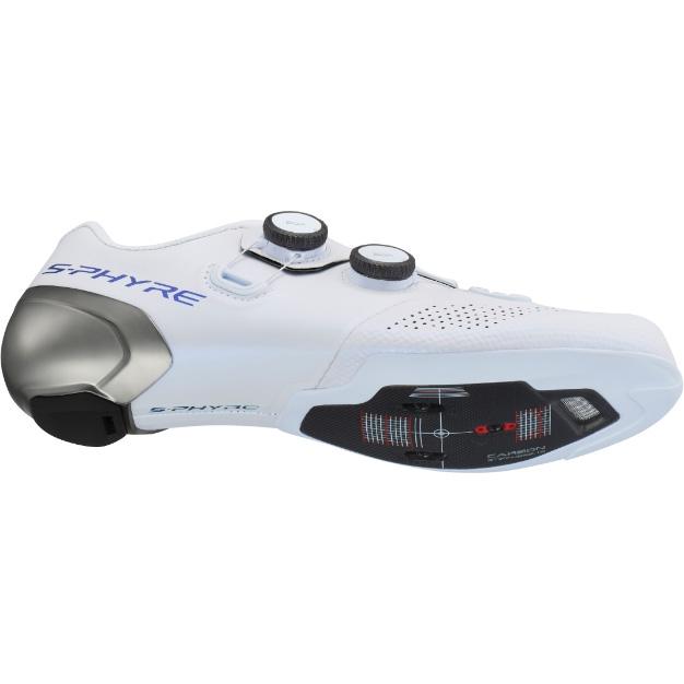 シマノ RC9(SH-RC902) ホワイト ワイドタイプ SPD-SL シューズ