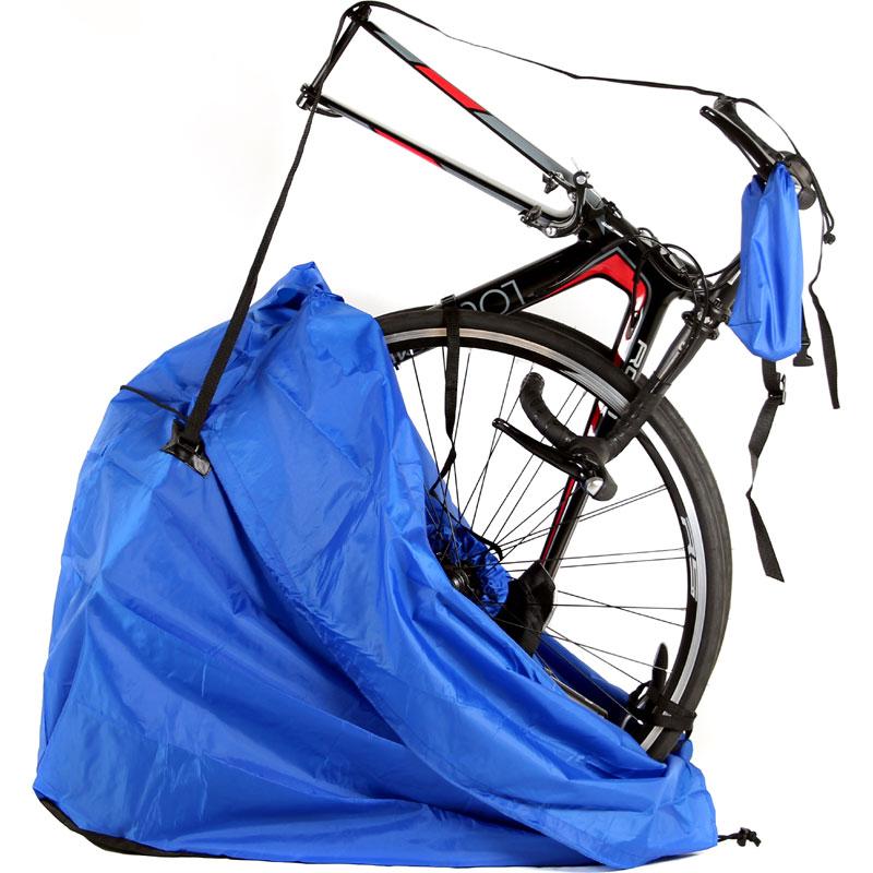 【特急】R250 縦型軽量輪行袋 ブラック エンド金具、フレームカバー・スプロケットカバー・輪行マニュアル付属