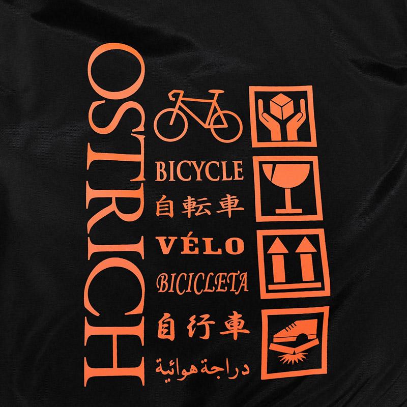 【輪行マニュアルプレゼント】オーストリッチ OS-500 トラベルバッグ ブラック/オレンジ