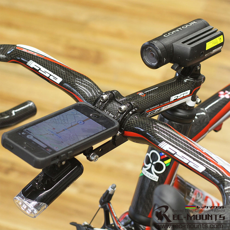 レックマウント REC-014CON トップキャップマウント タイプ2 for コンツアー アクションカメラ