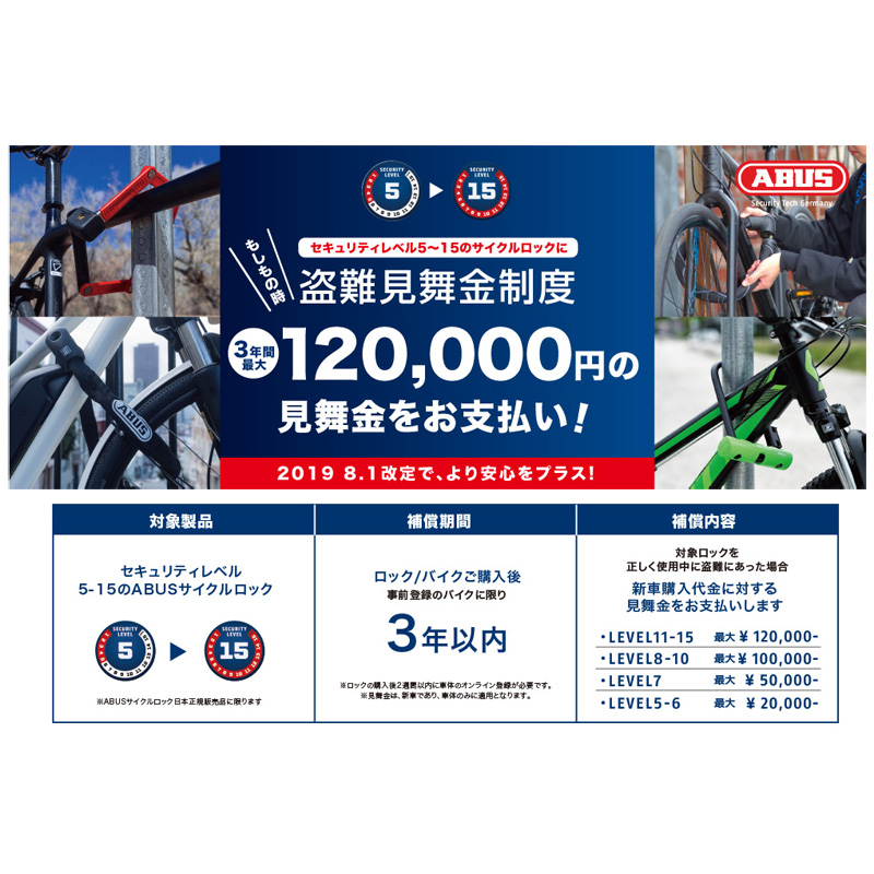 ABUS ULTRA MINI 410/150 SH ロック
