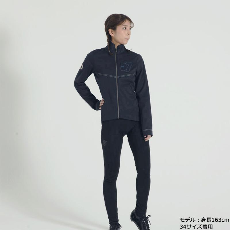 カペルミュール ウインドシールド57ジャケット サガラ刺繍 ネイビー レディース