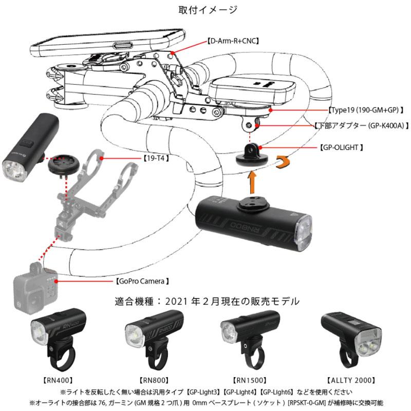 レックマウント GP-OLIGHT ライトアダプター オーライト用