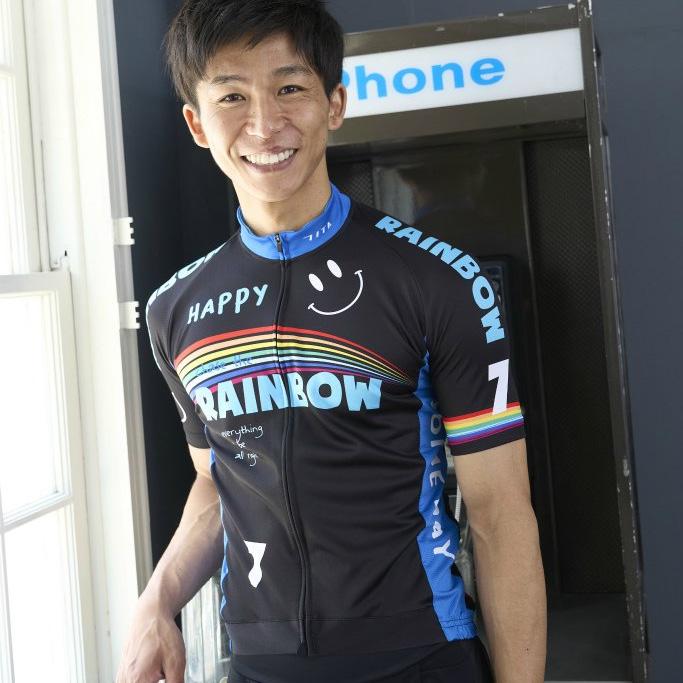 セブンイタリア Rainbow Smile 3 Jersey ブラック