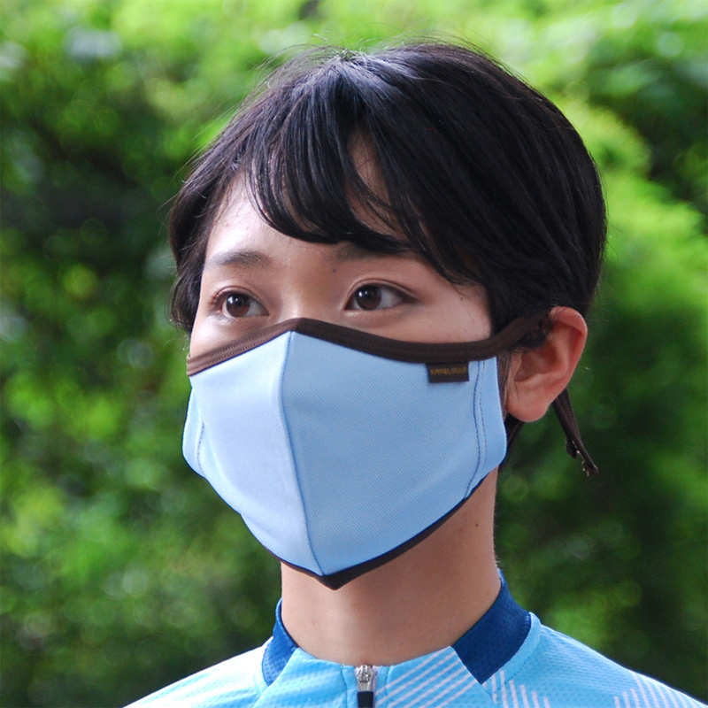 カペルミュール 吸汗速乾マスク サックスブルー