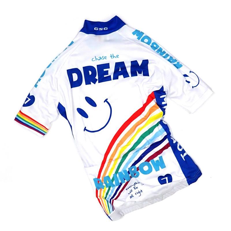 セブンイタリア Rainbow Smile 3 Lady Jersey ホワイト レディース