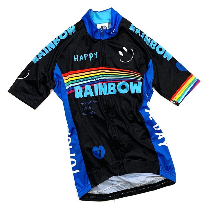 セブンイタリア Rainbow Smile 3 Lady Jersey ブラック レディース