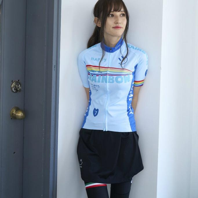 セブンイタリア Rainbow Smile 3 Lady Jersey スカイ レディース