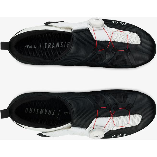 【特急】フィジーク R3 TRANSIRO ブラック/ホワイト トライアスロンシューズ