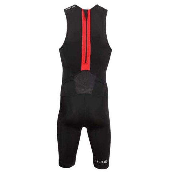 フーブ ESSTSRZ HBMT 19021Essential Tri suit Rear ZIP-Men ブラック/レッド