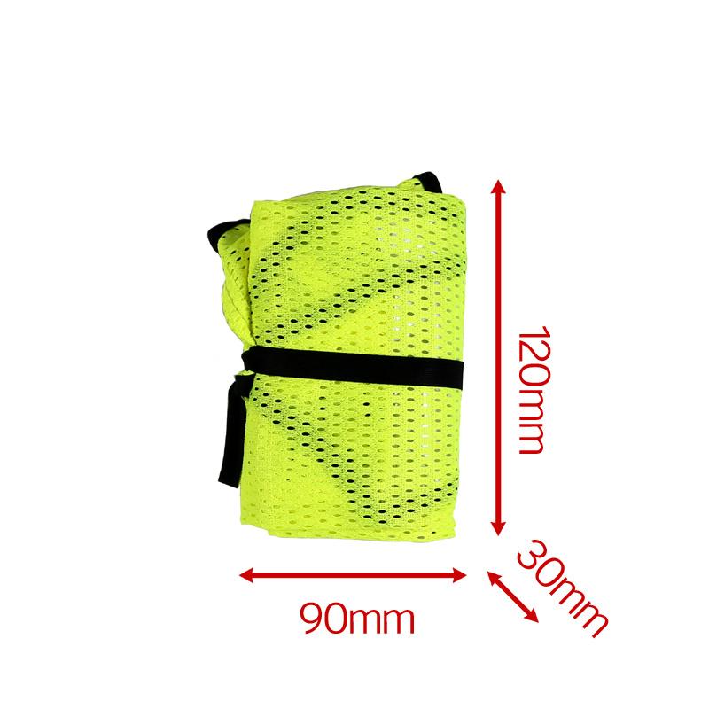【特急】【M便】R250 サイクル反射ベスト ポケット付き ネオンイエロー フリーサイズ