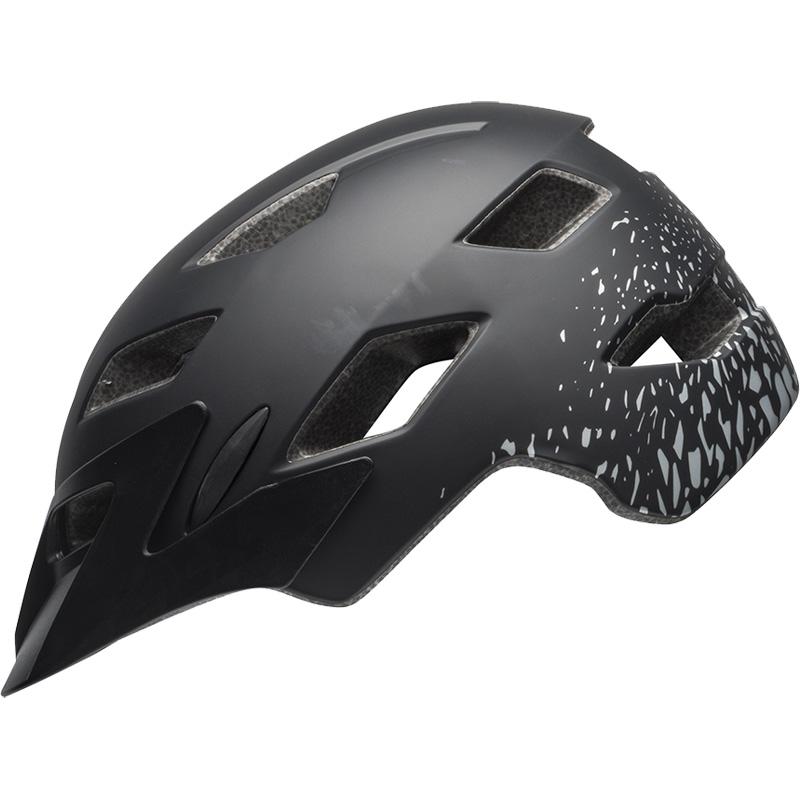 ベル サイドトラック マットブラック/シルバーフラグメント ヘルメット